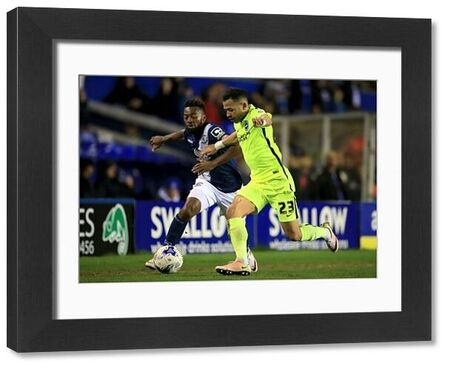 Brighton and Hove Albion's Liam Rosenior (right) and Birmingham City's Jacques Maghoma battle for the ball during the Sky Bet Championship match at St Andrews, Birmingham