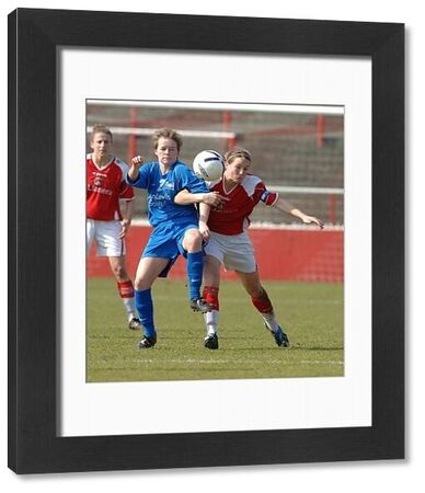Charlton Athletic's Casey Stoney and Birmingham Citys Bonnie Horwood