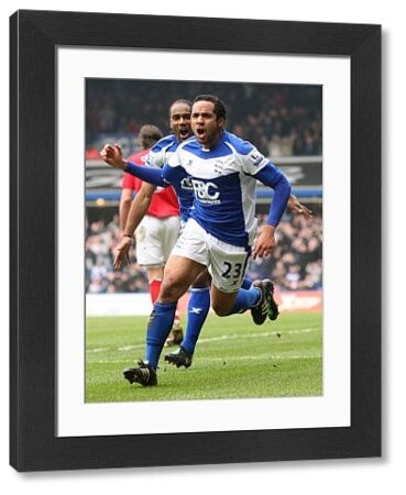 Birmingham City's Jean Beausejour celebrates scoring their first goal
