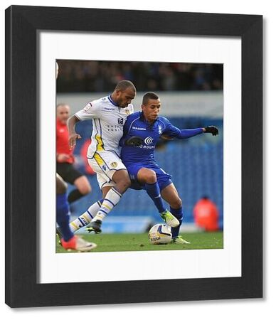 Birmingham City's Ravel Morrison and Leeds United's Rodolph Austin during the npower Championship match at Elland Road, Leeds