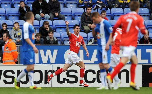 Birmingham City's Liam Ridgewell celebrates after scoring his side's first goal of the game
