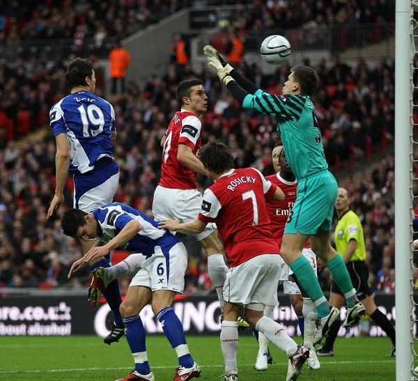 Birmingham City's Nikola Zigic (left) scores the opening goal