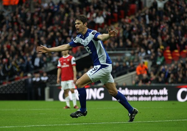 Birmingham City's Nikola Zigic celebrates scoring the opening goal