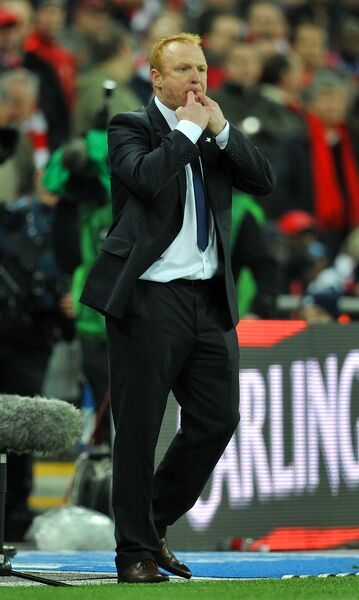 Birmingham City manager Alex McLeish during the Carling Cup Final at Wembley Stadium, London