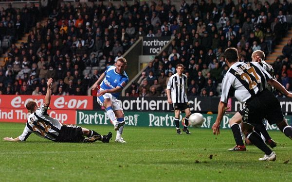 Birmingham City's Gary McSheffrey scores the opening goal of the game