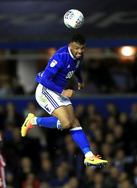 Birmingham City's Isaac Vassell in action