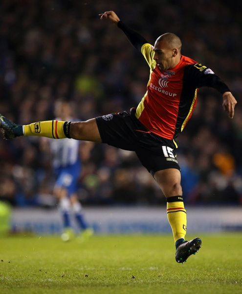 Birmingham City James Vaughan during the Sky Bet Championship match at the AMEX Stadium, Brighton
