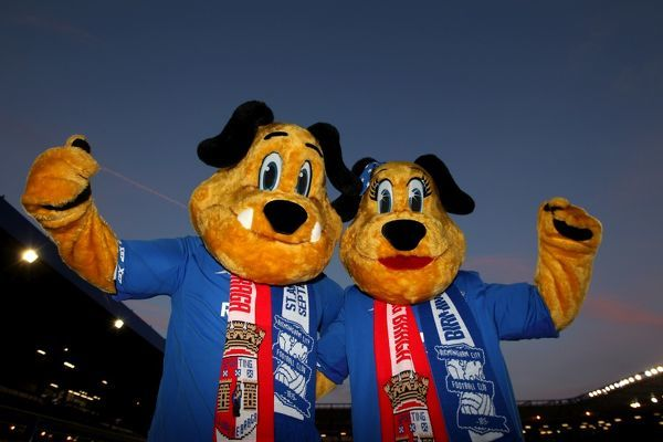 Birmingham City mascots Beau and Belle
