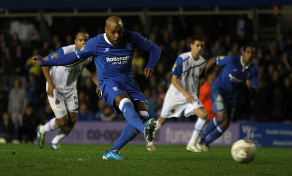 Birmingham City's Marlon King scores their second goal from the penalty spot