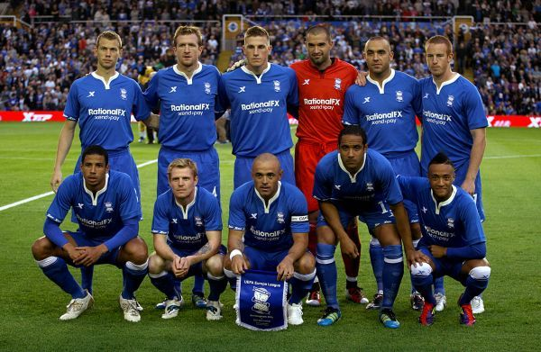 Birmingham City team group prior to kick-off