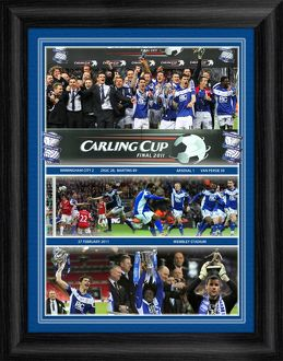 Carling Cup Final 2011 Birmingham City v Arsenal Framed Montage Print